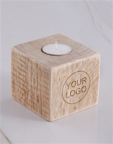 gifts: Personalised Corporate Square Candle Holder!