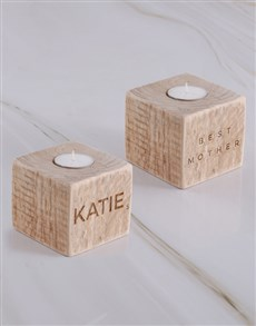 gifts: Personalised Mr Mrs Home Square Candle Holder !