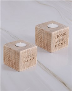 gifts: Personalised Srabble Letter Sqaure Candle Holder!