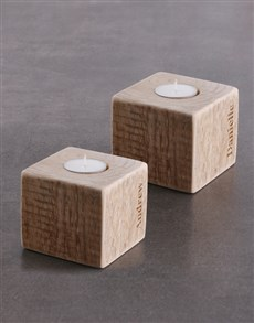 gifts: Personalised Mr Mrs Name Square Candle Holder!
