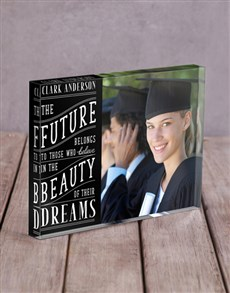 gifts: Personalised The Future Acrylic Block !