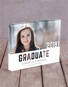 gifts: Personalised Graduate Acrylic Block !