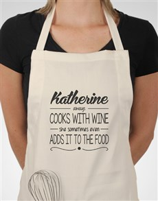 gifts: Personalised Cooks With Wine Apron!