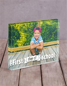 gifts: Personalised First Day Of School Acrylic Block!
