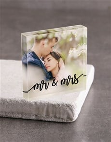 gifts: Personalised Mr And Mrs Acrylic Block!