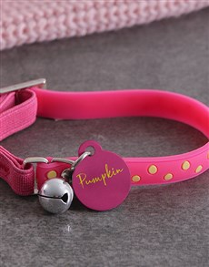 gifts: Personalised Pink ID Tag and Cat Collar!