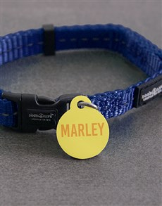 gifts: Personalised Yellow ID Tag and Collar!
