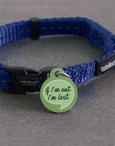 gifts: Personalised If Im Out ID Tag and Collar!