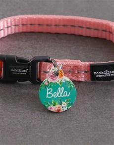 gifts: Personalised floral ID Tag and Collar!