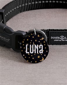 gifts: Personalised Star and Moon ID Tag and Collar!