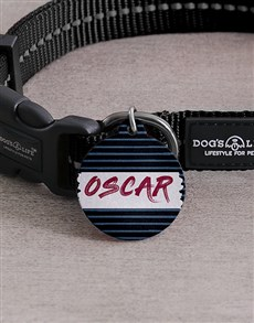 gifts: Personalised Funky Stripe ID Tag and Collar!