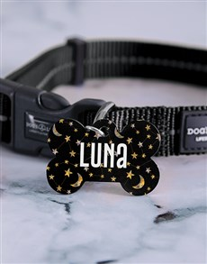 gifts: Personalised Star Bone ID Tag and Collar!