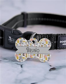 gifts: Personalised Adorable Bone ID Tag and Collar!