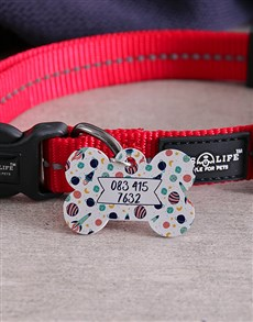 gifts: Personalised Spaceship Bone ID Tag and Collar!