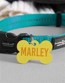gifts: Personalised Sunshine Bone ID Tag and Collar!