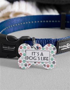 gifts: Personalised Dogs Life Bone ID Tag and Colla!
