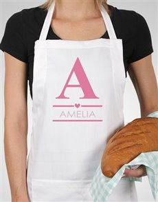 gifts: Personalised Pink Heart Apron!