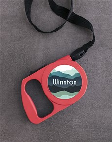 gifts: Personalised Mountain Retractable Dog Lead!