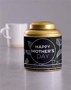 gifts: Personalised Mothers Day Gold Tea Tin!