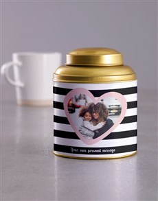 gifts: Personalised Heart Photo Gold Tea Tin!
