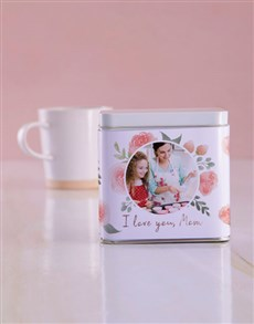 gifts: Personalised Love You Mom White Tea Tin!