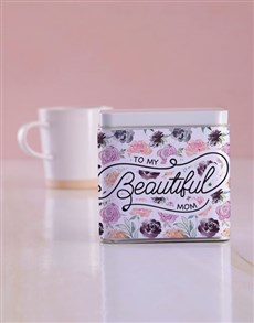 gifts: Personalised Beautiful Mom White Tea Tin!