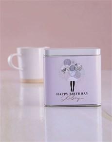 gifts: Personalised Birthday White Tea Tin!