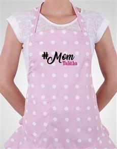 gifts: Personalised Polka Dot Mom Apron!