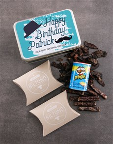 gifts: Personalised Birthday Gent Snack Tin!