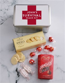 gifts: Personalised Survival Kit Snack Tin!