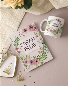 gifts: Personalised Floral Wonder Notebook!