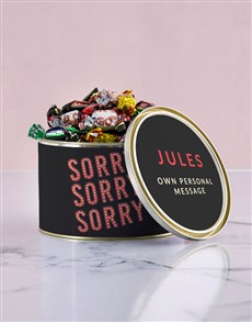 flowers: Personalised Sorry Chocolate Passions Tin!
