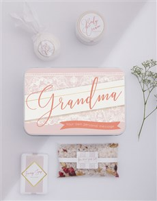 gifts: Personalised Grandma Bath Spoils Keepsake Box!