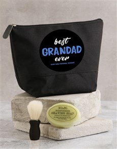 gifts: Personalised Best Grandad Ever Wash Bag!