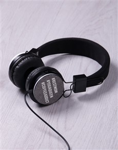 gifts: Personalised Hashtag Headphones!