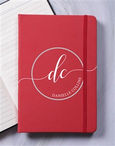 gifts: Personalised Initial Stamp A5 Notebook!