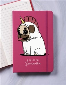 gifts: Personalised Pugicorn A5 Notebook!