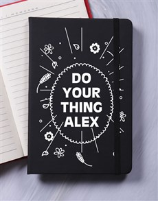 gifts: Personalised Do Your Thing A5 Notebook!