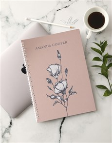 gifts: Personalised Blossoming Notebook!
