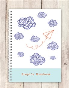 gifts: Personalised Cloudy Notebook!