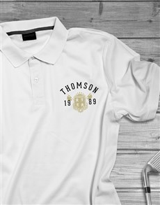 gifts: Personalised Year Badge Polo Shirt!