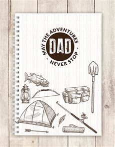 gifts: Personalised Adventurous Dad Notebook!