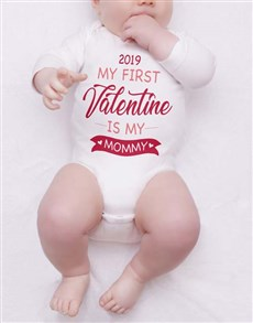 gifts: Personalised My First Valentine Onesie!
