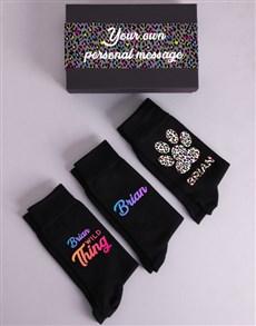 gifts: Personalised Three Pair Wild Thing Sock Box!