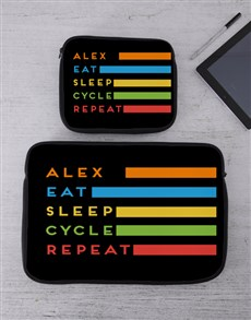 gifts: Personalised Cycle Tablet or Laptop Sleeve!