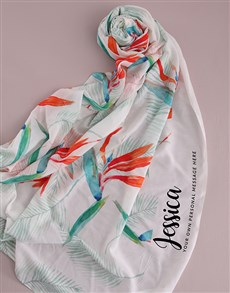 gifts: Personalised Paradise Scarf Gift!
