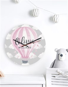 gifts: Personalised Pink Balloon Clock!