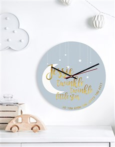 gifts: Personalised Little Star Clock!
