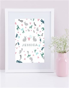 gifts: Personalised Framed Garden Cat Print!