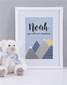 gifts: Personalised Framed Move Mountains Print!